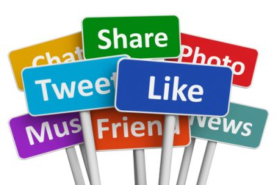 Share, Tweet, Like, Social media marketing image