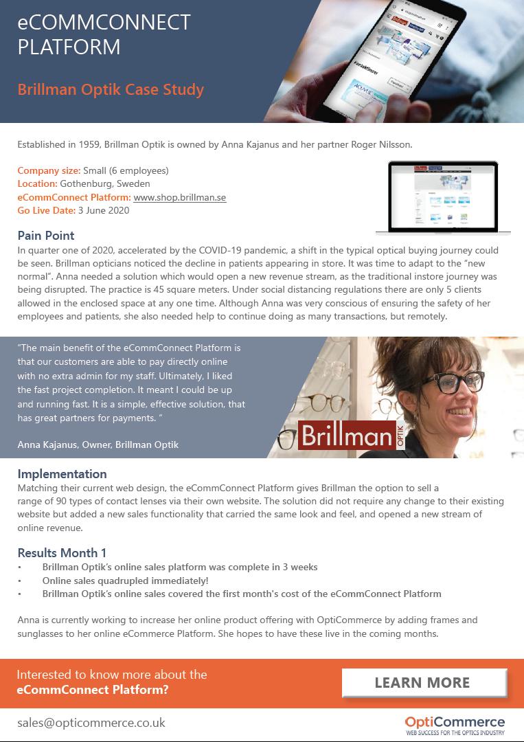 Brillman Optik Case Study Screenshot